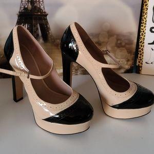 Vince Camuto Mary Jane's pumps beige/black US7
